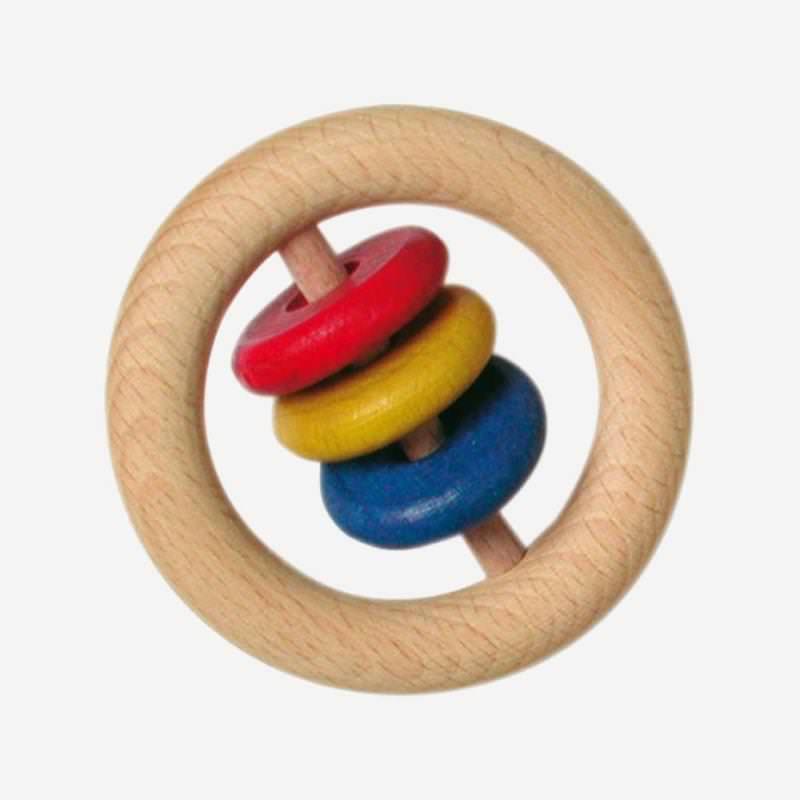 Babyscheibenring von Glückskäfer aus Holz