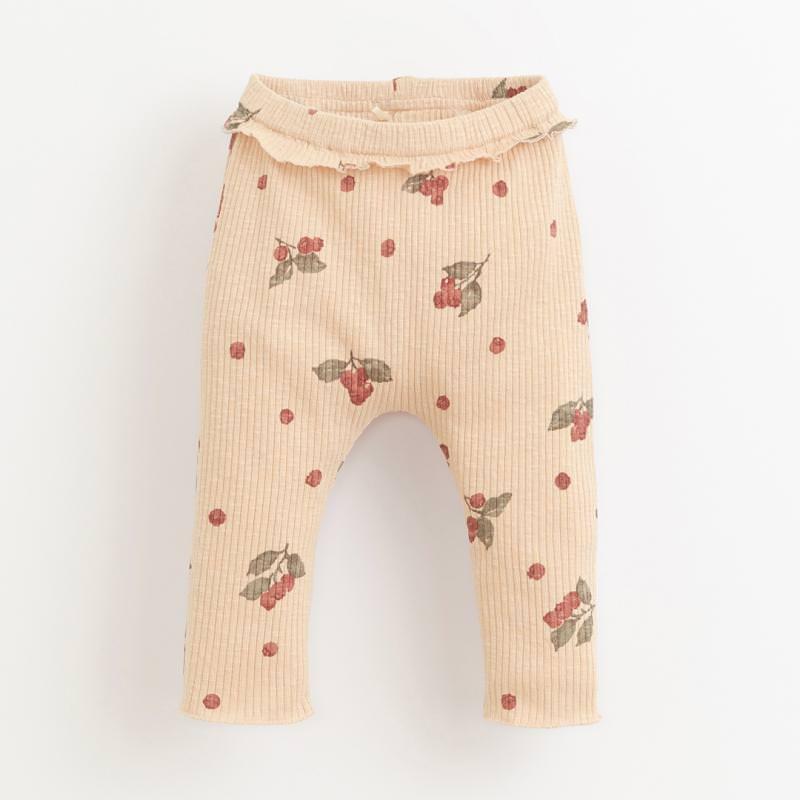Leggings mit Volant egg rosa