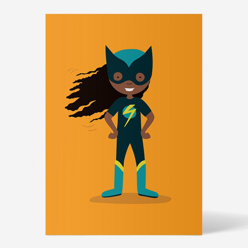 "Postkarte ""Superheld/in"" orange von ellou in DIN A6"