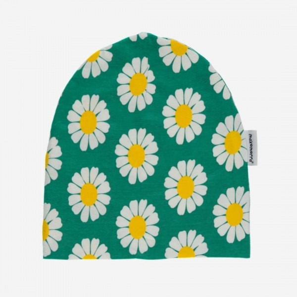 Mütze mit Blumen