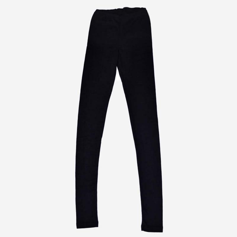 Damen Leggings schwarz Wolle/Seide