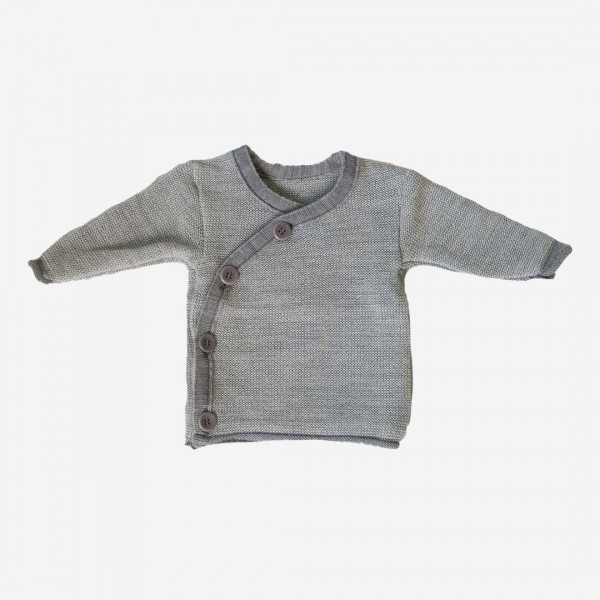 Melange-Jacke Grau/Natur