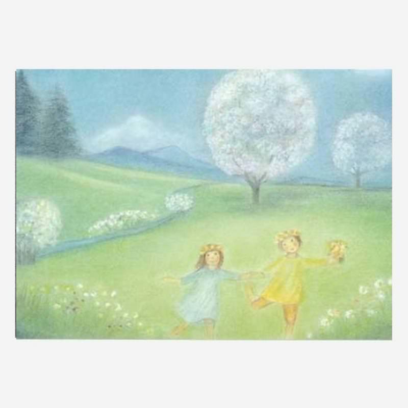 Postkarte Blütenbäume von Ruth Elsässer