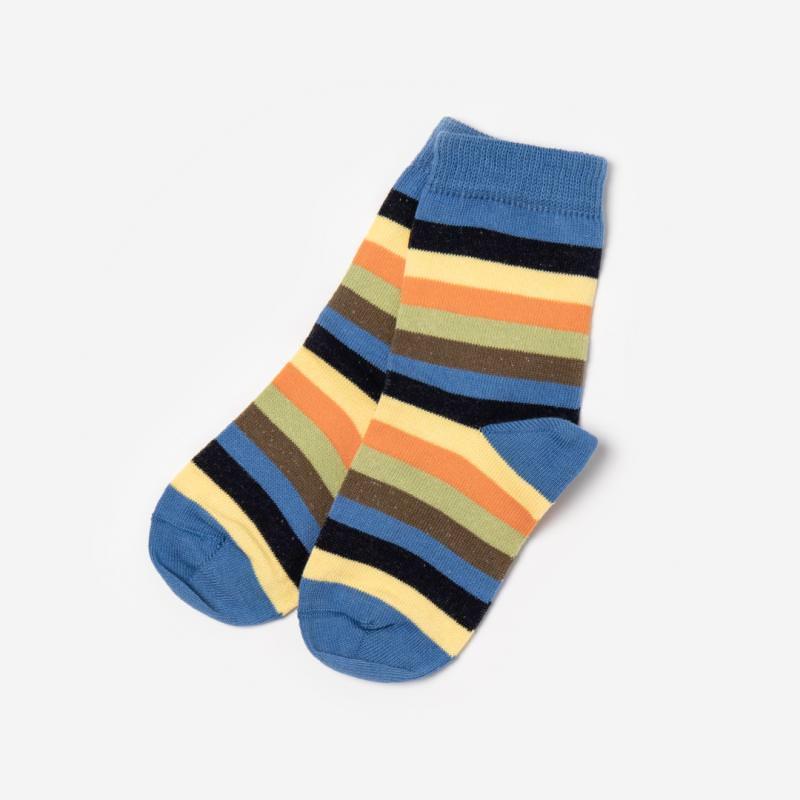Socken Baumwolle Ringel regattablau