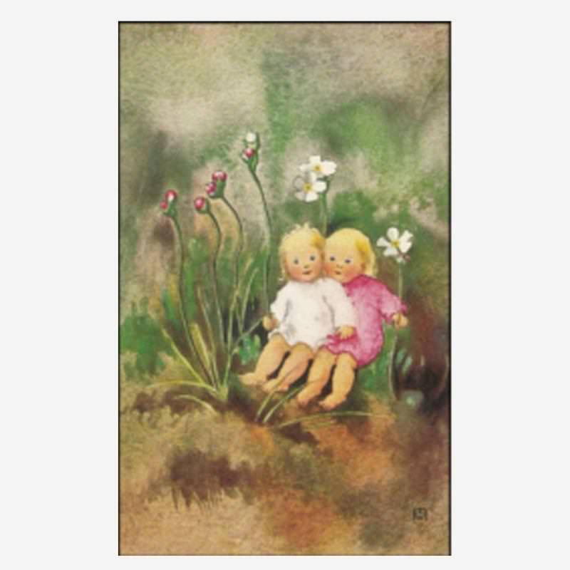 Postkarte Schwesterlein von Mili Weber
