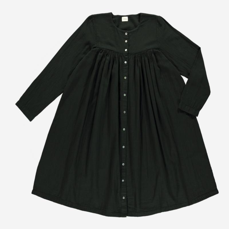 Damen Kleid PETUNIA von Poudre Organic aus Bio-Baumwolle in pirate black