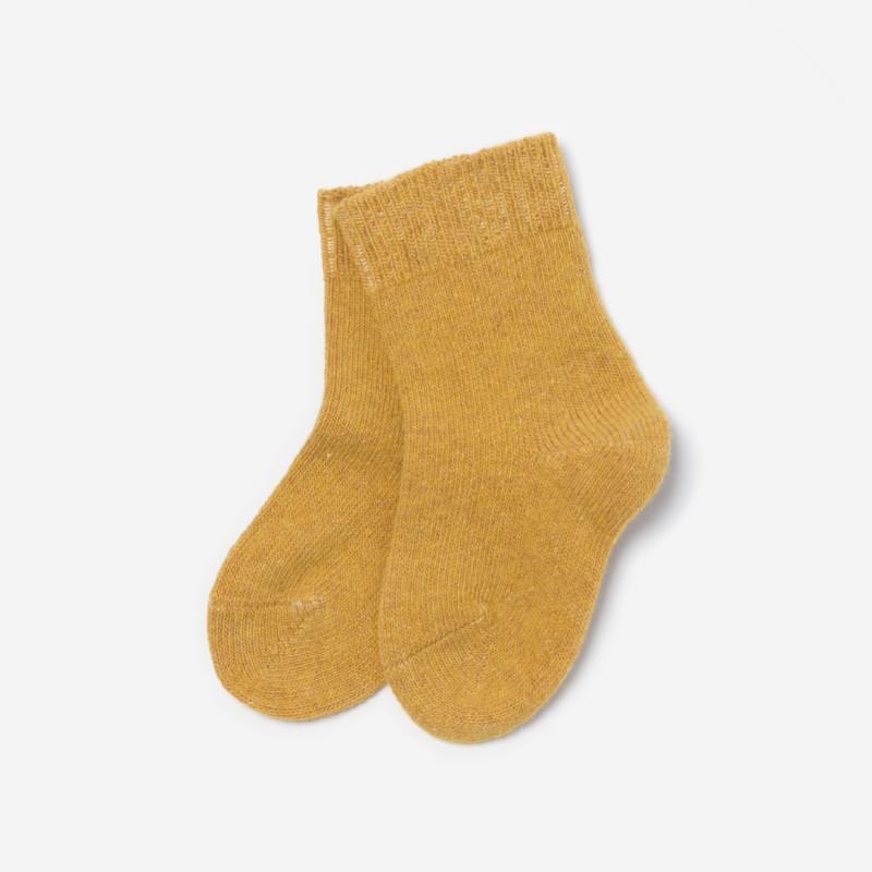 Kinder Socken Wolle/Baumwolle gelb