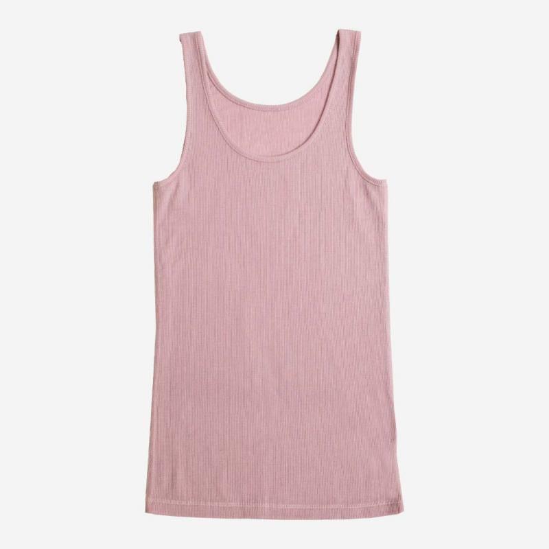 Damen Trägerhemd von Joha aus Wolle/Seide in rosa