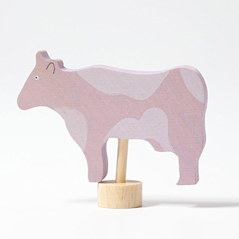 grimms figurenstecker gefleckte kuh rosa 1