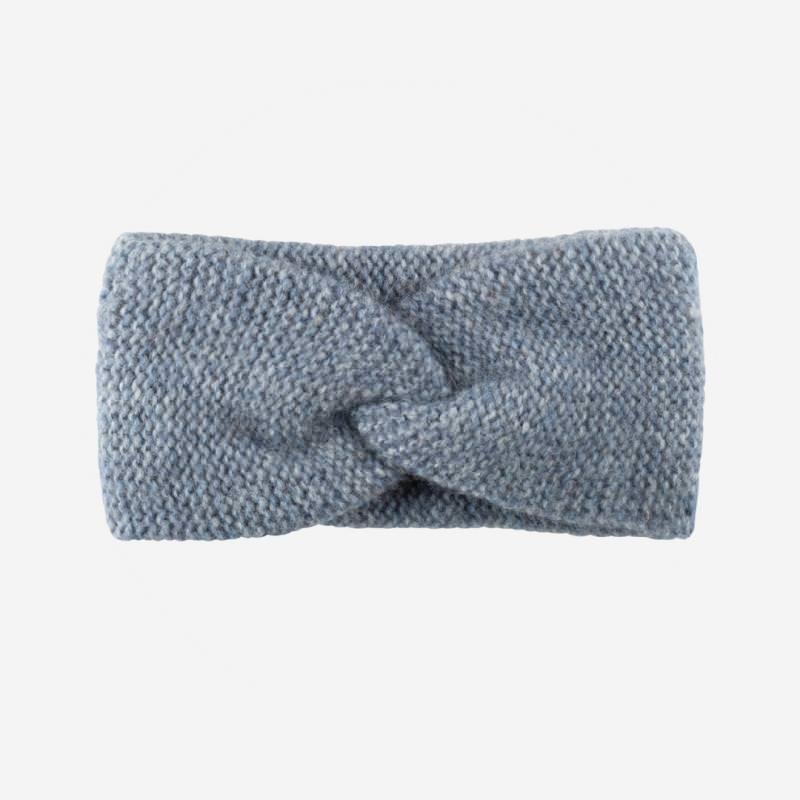 Stirnband blau Alpakawolle Pure Pure