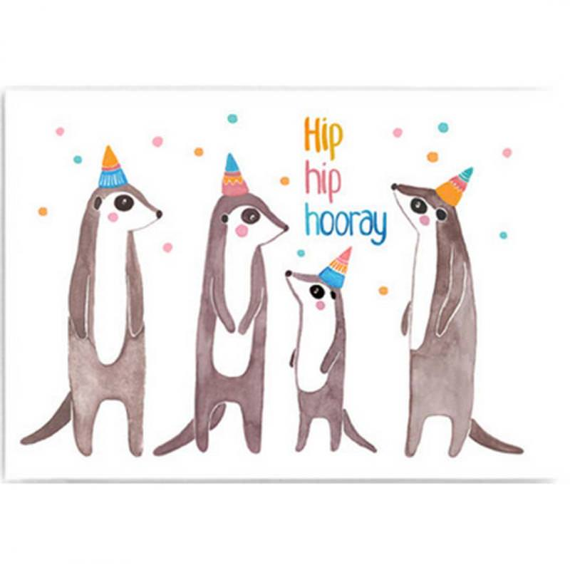 "Postkarte ""Hip Hip Hooray"""