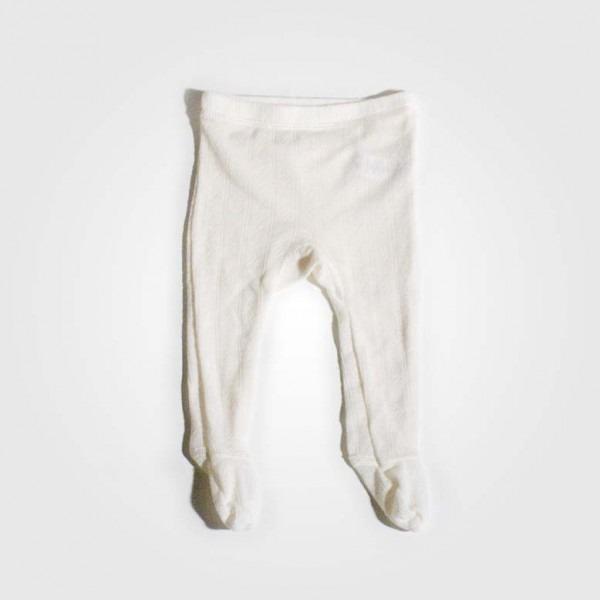 Babyhose mit Fuß Wolle/Seide