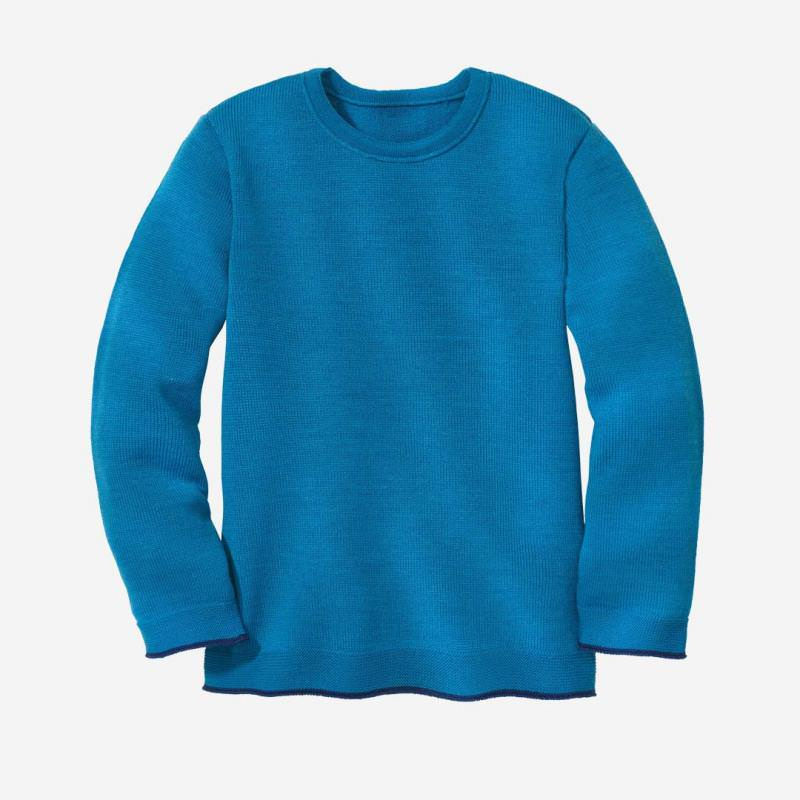 Strick-Pullover Wolle blau
