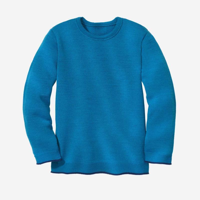 Strick-Pullover Wolle blau