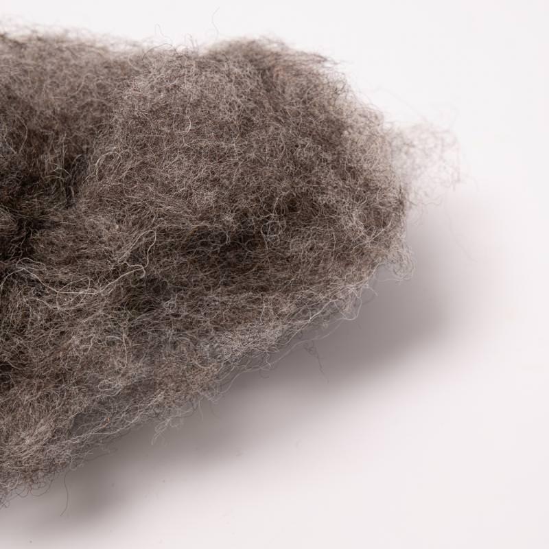 filges filz wolle grau