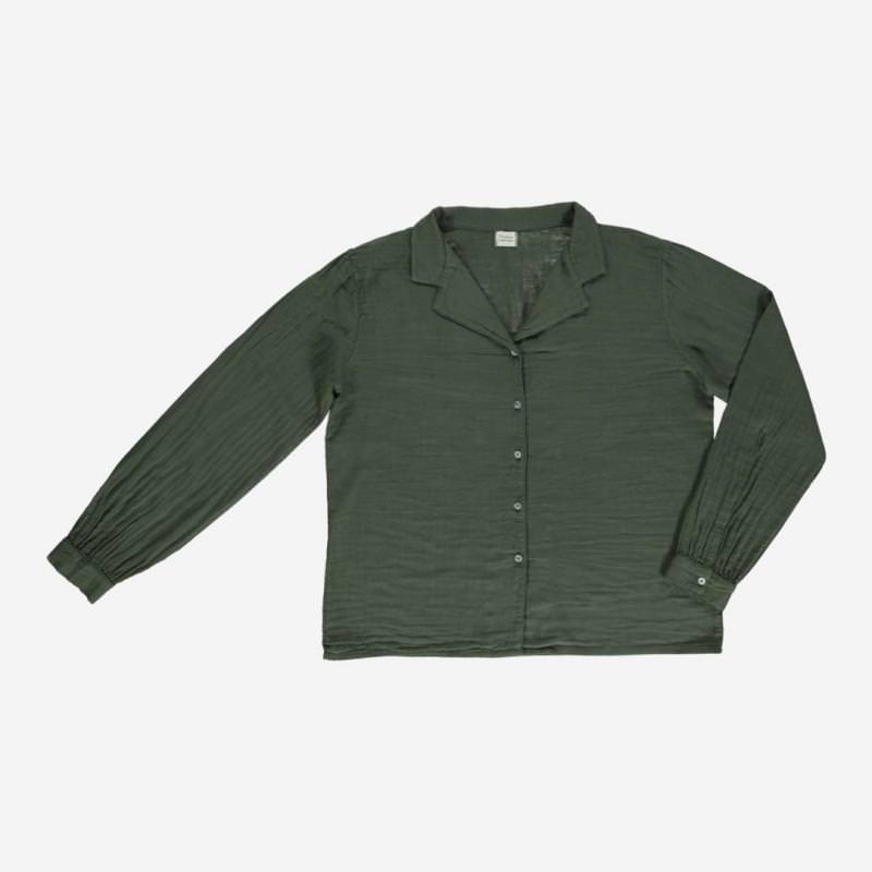 Damen Bluse DATTE forest green