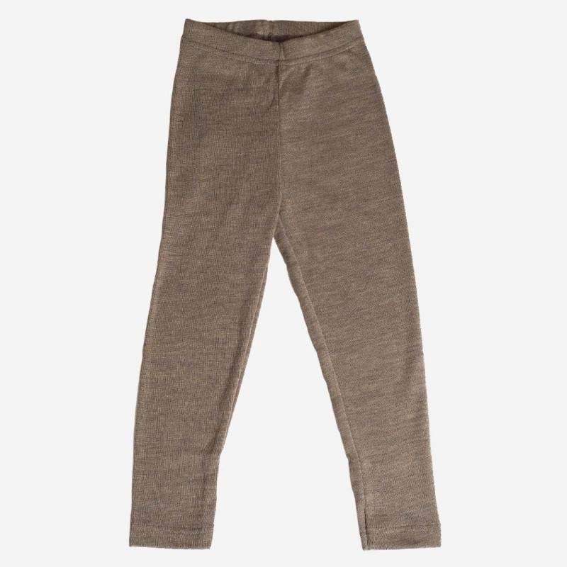 Leggings walnuss Wolle/Seide