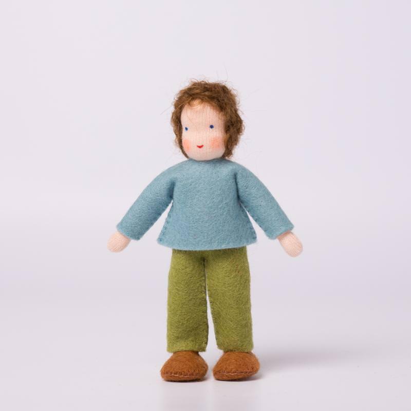 Puppenstuben Junge braunes Haar