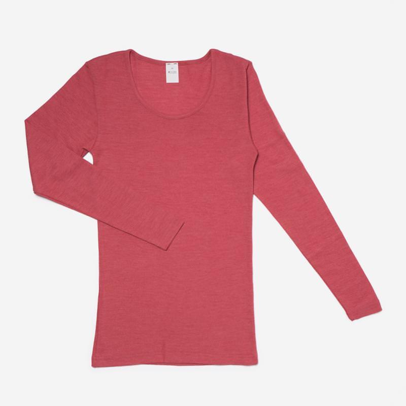 Damen Unterhemd Wolle/Seide alt-rose