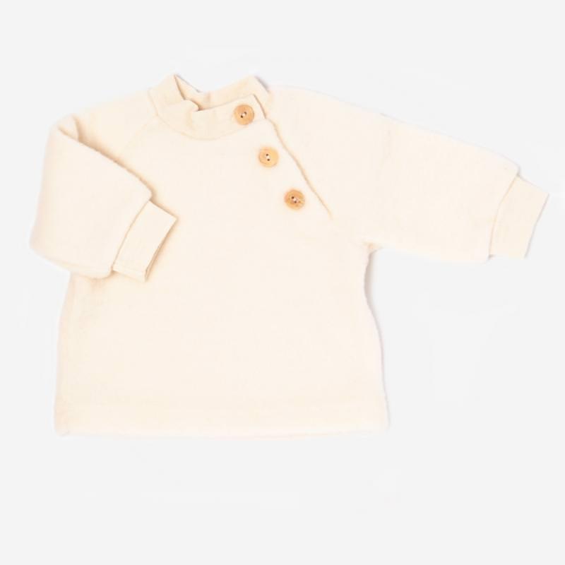 Baby Wollfleece Pullover natur