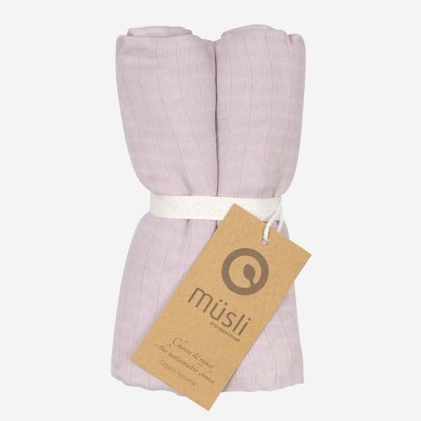 Musselin Tuch rose 2-Pack