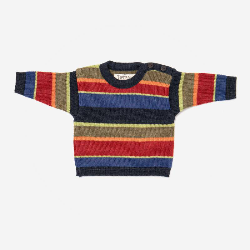 Pullover Arco nachtblau/bunt