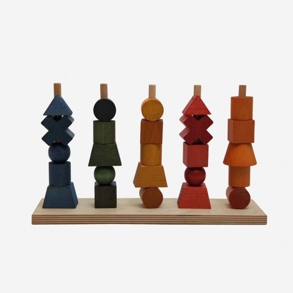 Holz Steckspiel Rainbow