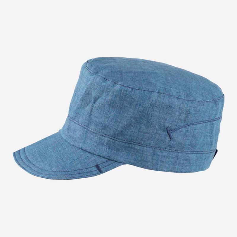 Kinder Schirmcap von Pure Pure aus Leinen in storm blue