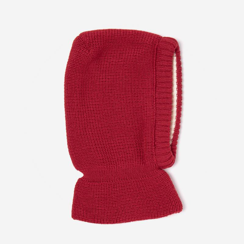 Schalmütze Wolle/Baumwolle rot