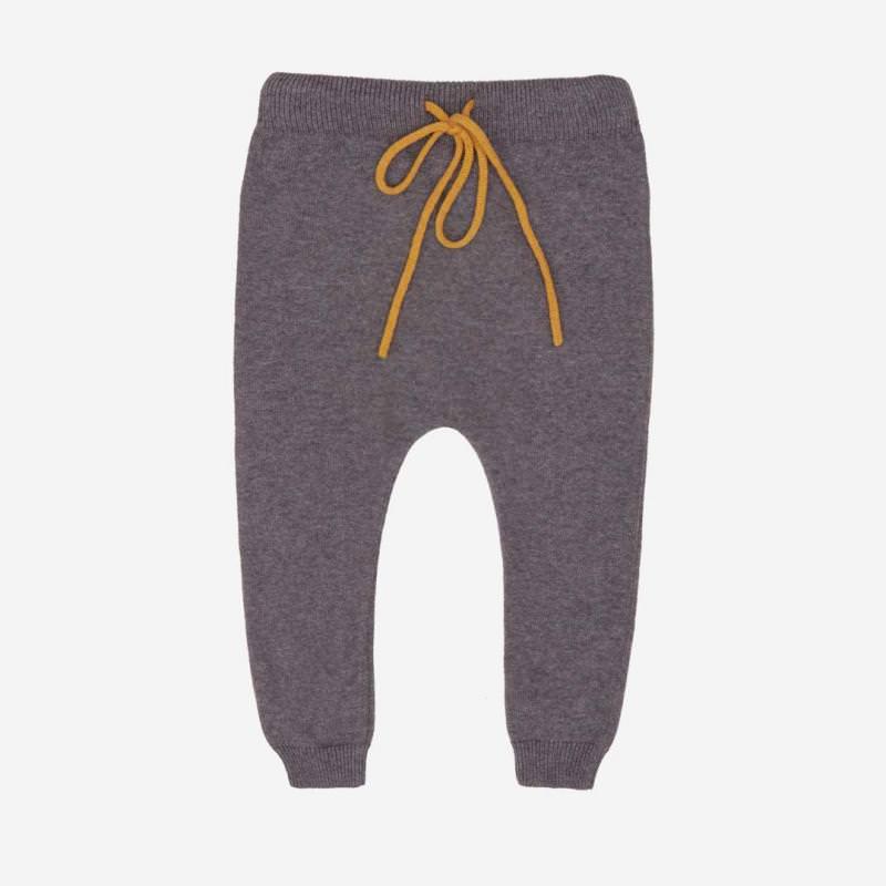 Hipsterpant Baumwolle Wolle dunkel grau