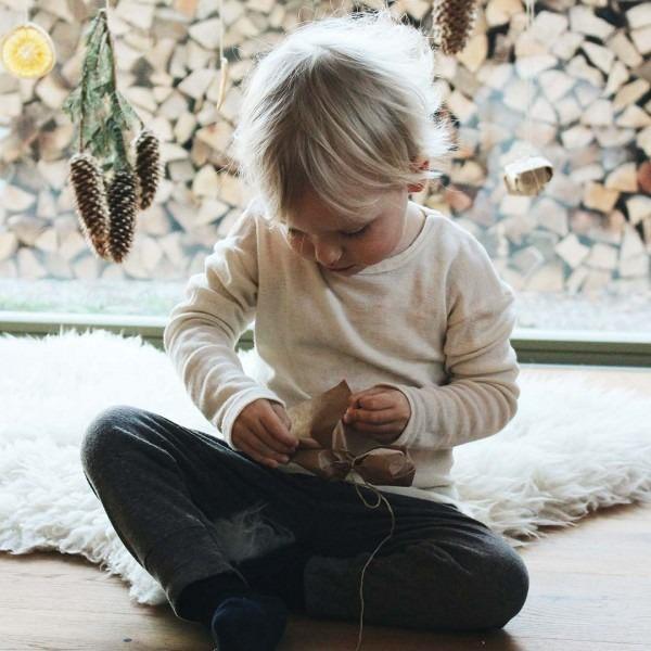 Unterhemd natur Wolle/Seide