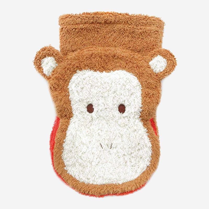 Waschhandschuh Affe