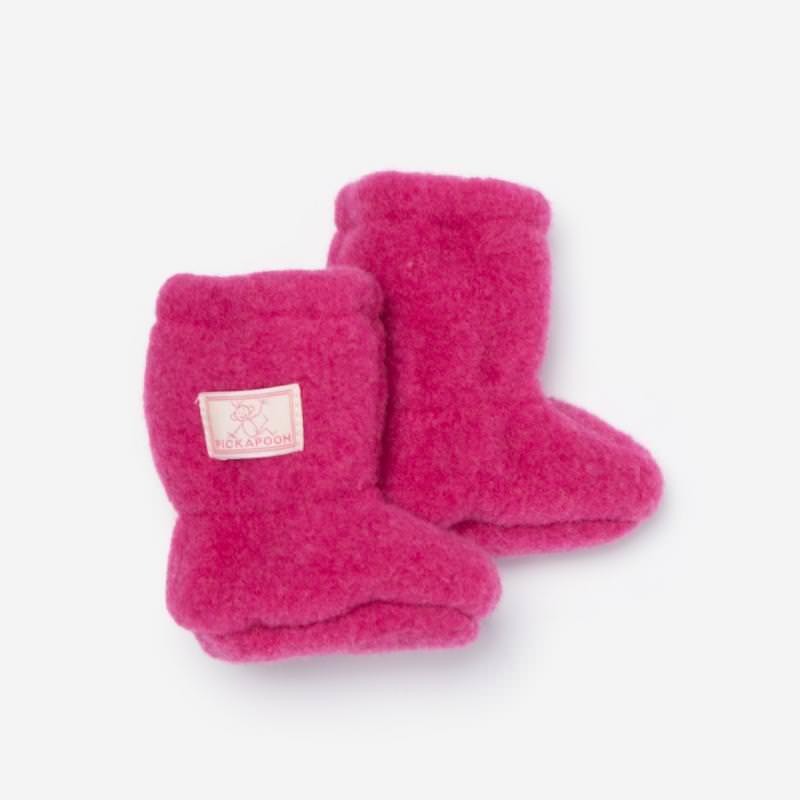 Baby-Stiefel Wollfleece fuchsia