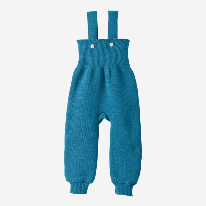 Strick Trägerhose Wolle blau