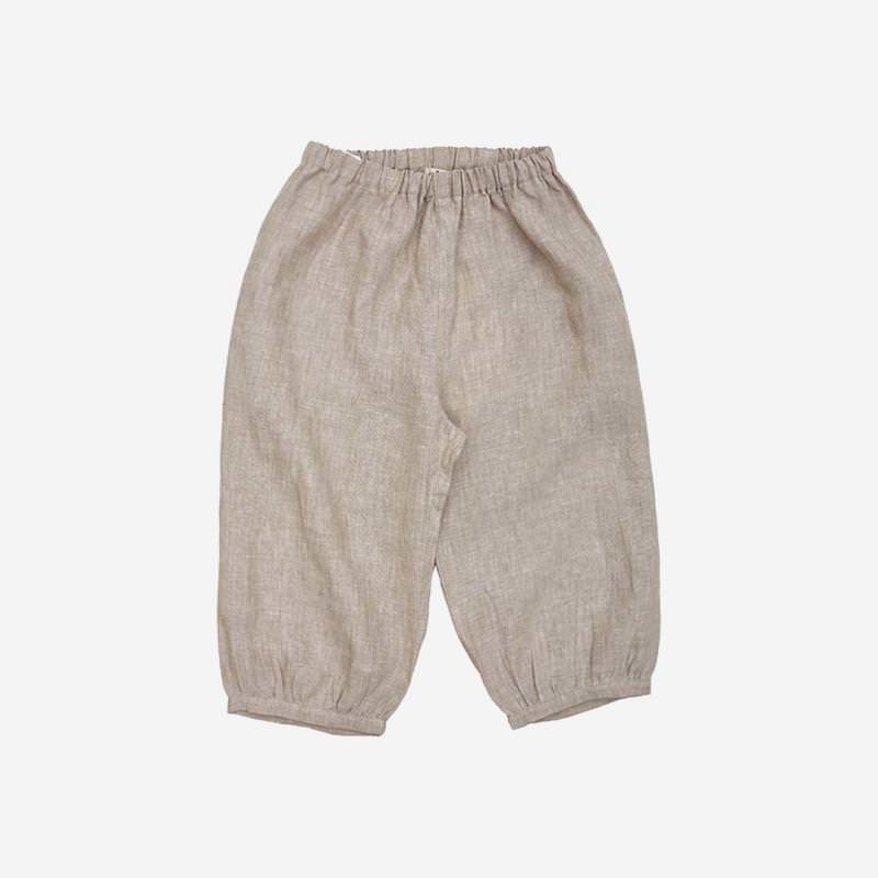 Bubble Pants Leinen beige
