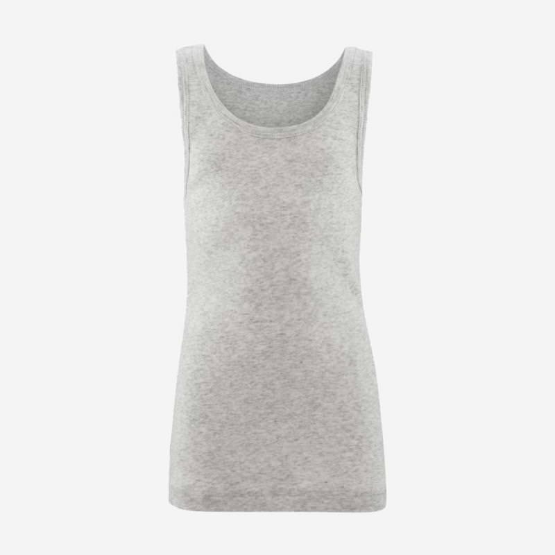 Achselhemd grey melange