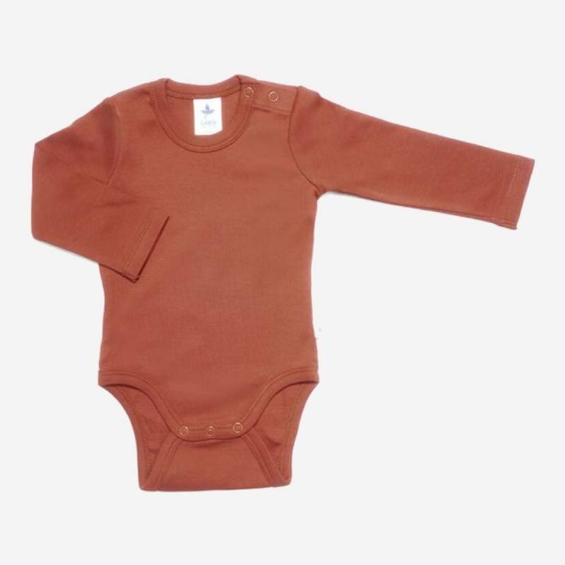 Baby Body von Leela Cotton aus Bio-Baumwolle in tabasco