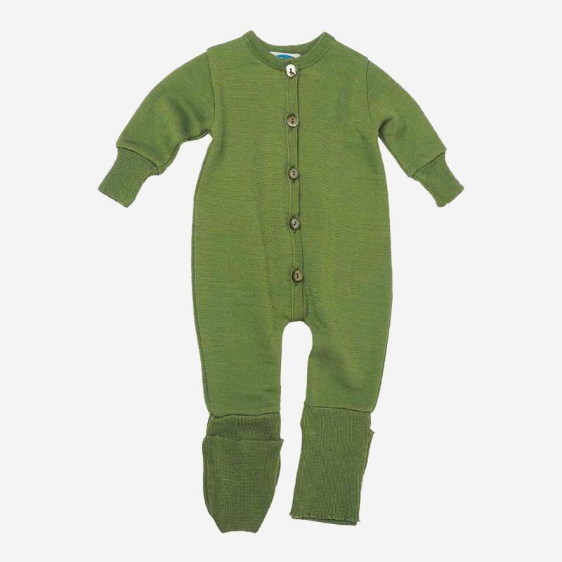 Baby Overall Schlafanzug von Reiff aus Wolle/Seide-Frottee in apfel