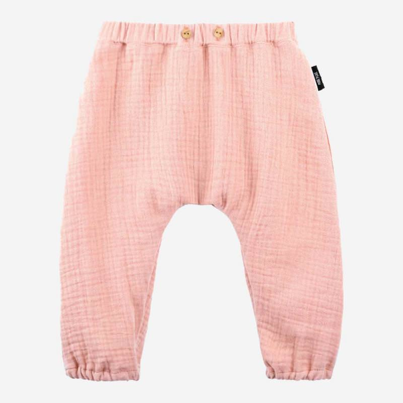 Baby Musselin Hose coral peach
