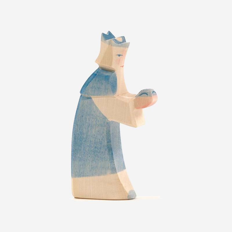 Holzfigur König blau von Ostheimer