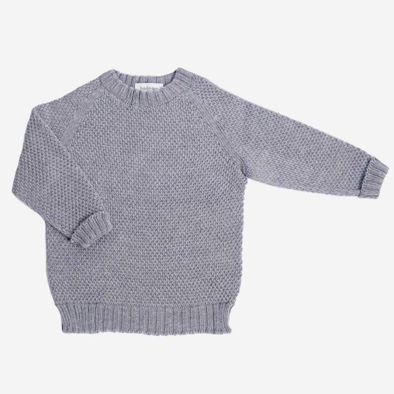 Pullover Strickmuster Wolle grau