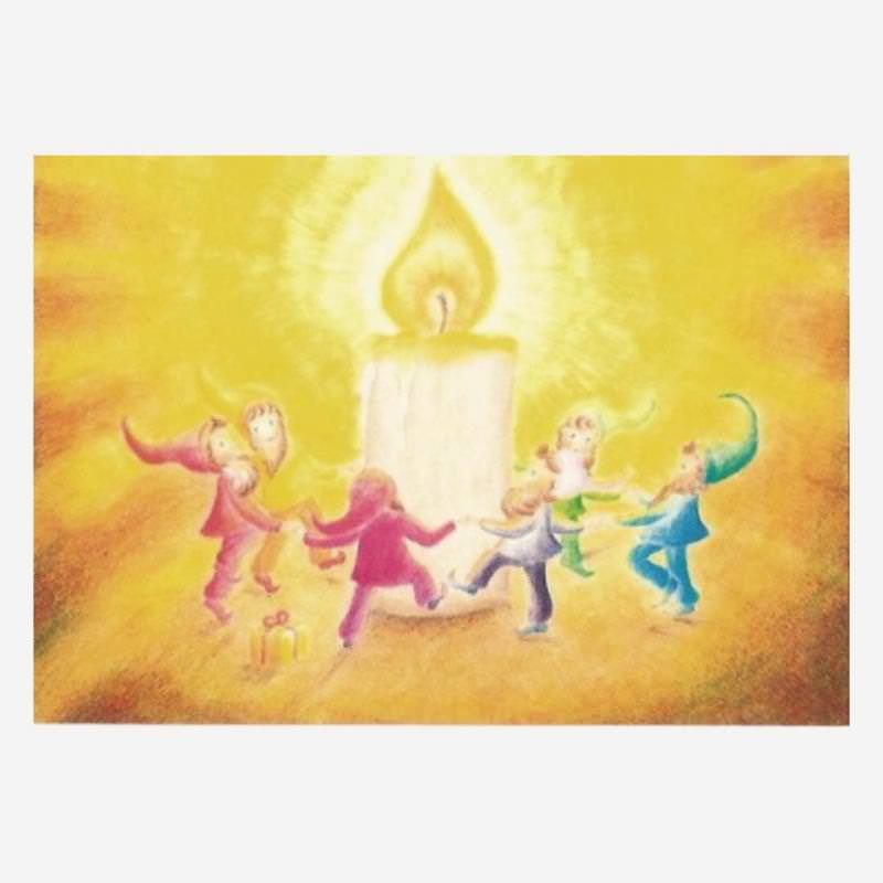 Postkarte Tanz der Zwerge