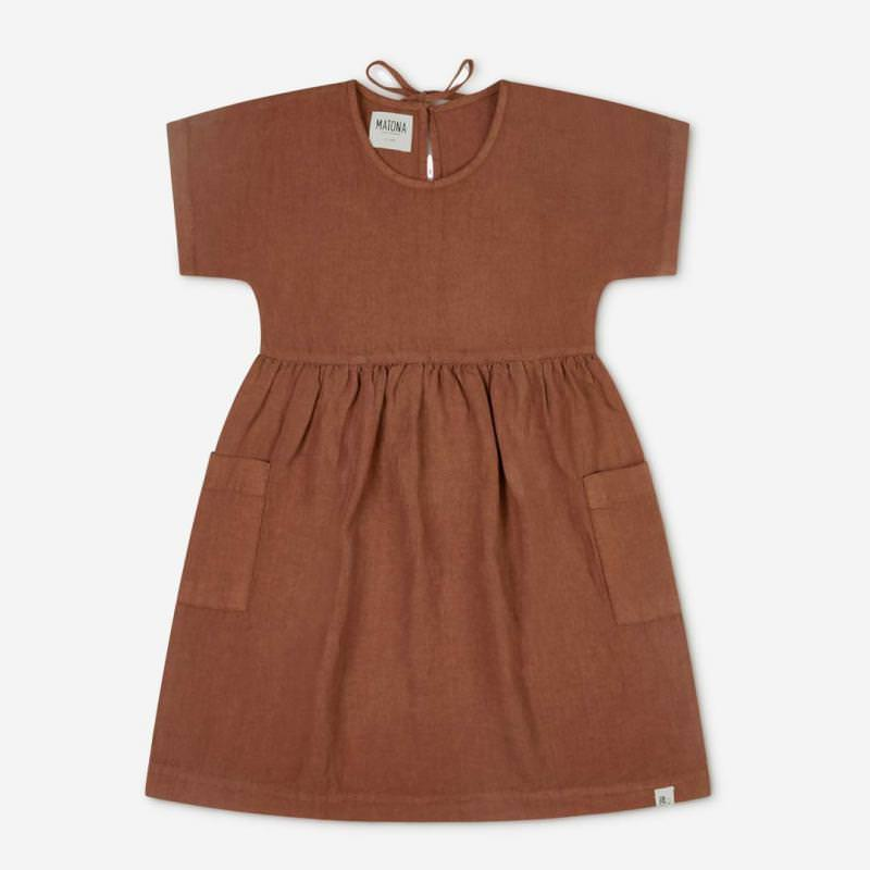 Eden Dress Leinen sienna