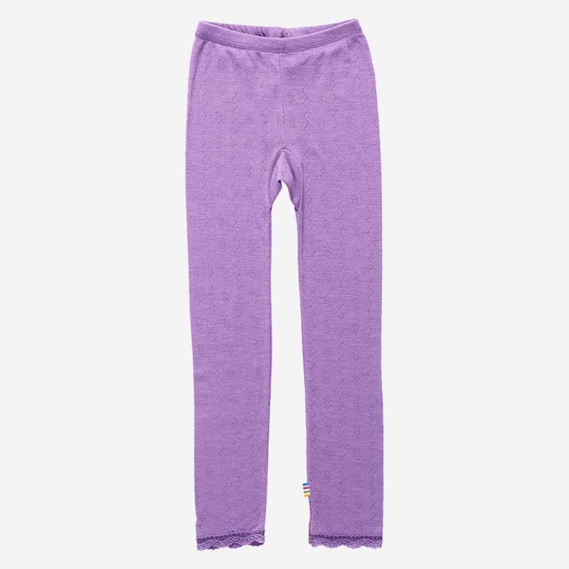 Spitzenleggings Wolle/Seide lila