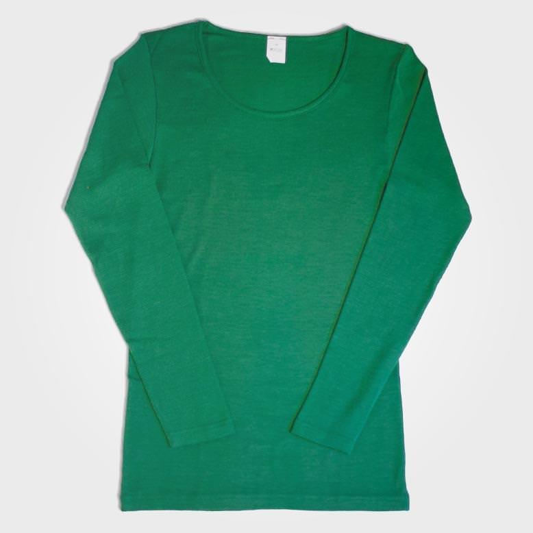 Unterhemd Rundhals Wolle/Seide grün