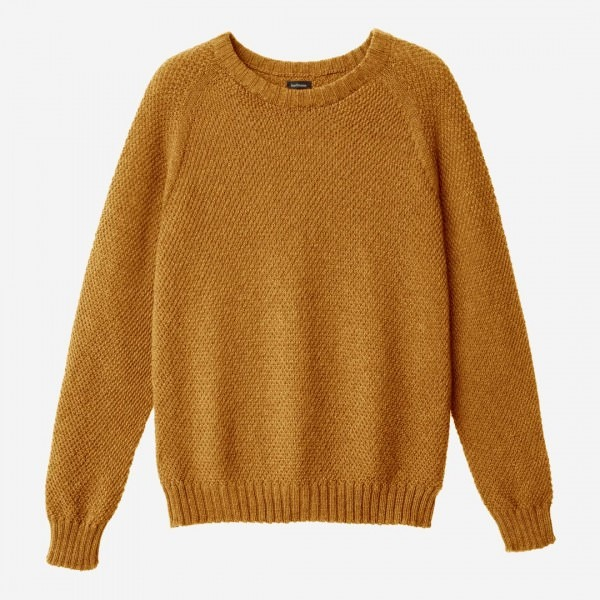 Damen Pullover Wolle ocker