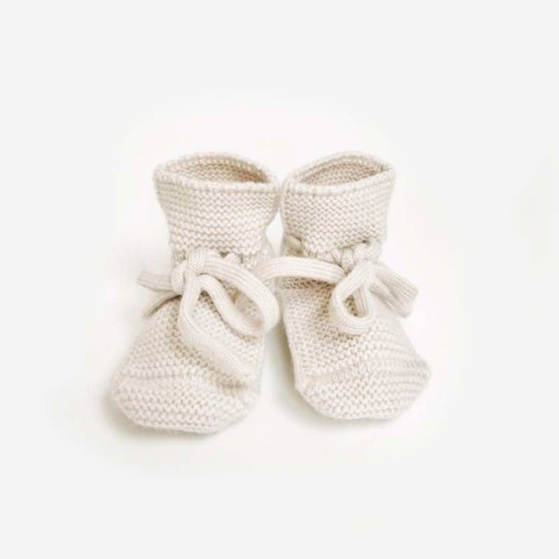 Babyschühchen BOOTIES Merinowolle