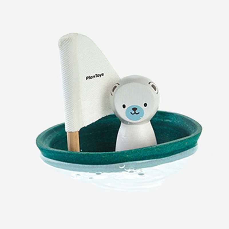 Plan Toys Seegelboot Eisbär