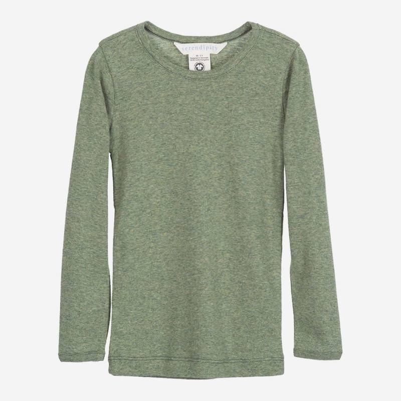 Kinder Shirt Slim von Serendipity aus Bio-Baumwolle in moss