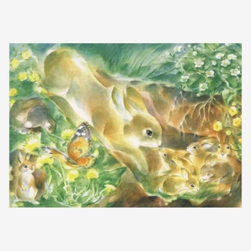 """Postkarte """"Hasenliebe"""" von Marie-Laure Viriot"""